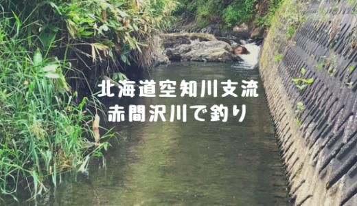 北海道赤平市で釣り(空知川支流の赤間沢川)