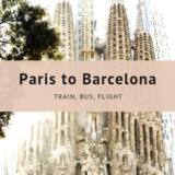パリからバルセロナへの移動(鉄道・バス・飛行機)まとめ